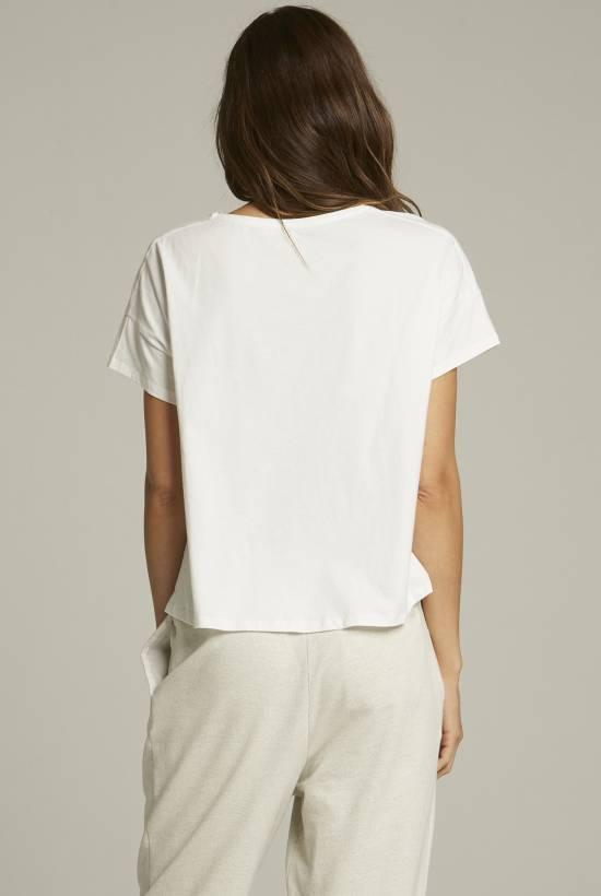Punto Liso T-Shirt Frunce