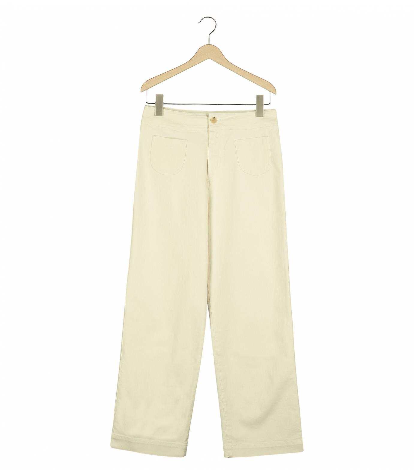 Wide Pants Ecru