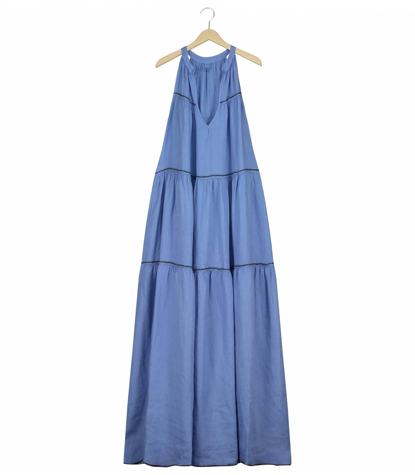 Lino Combi Long Dress