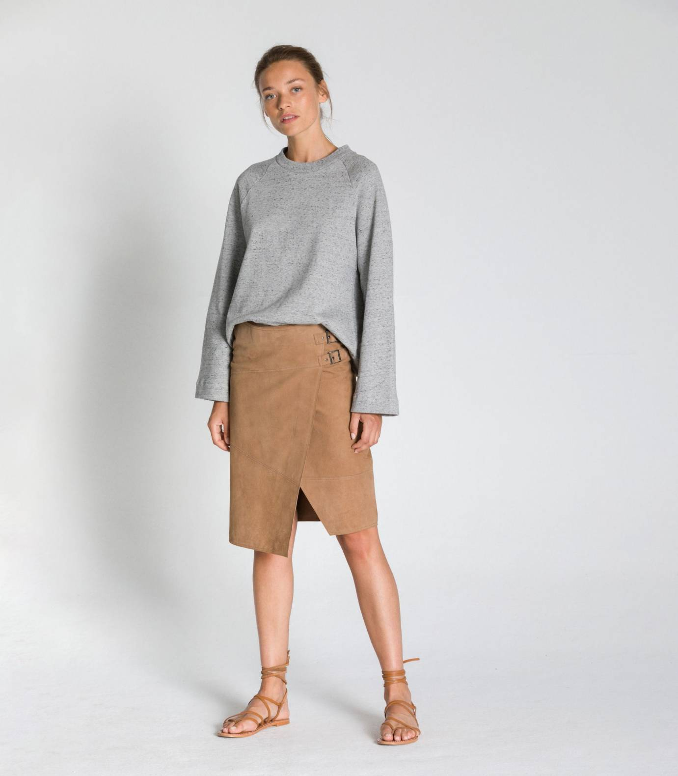 SUEDE SKIRT TCN