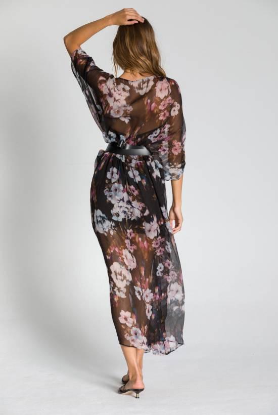 CREPON SEDA LONG DRESS