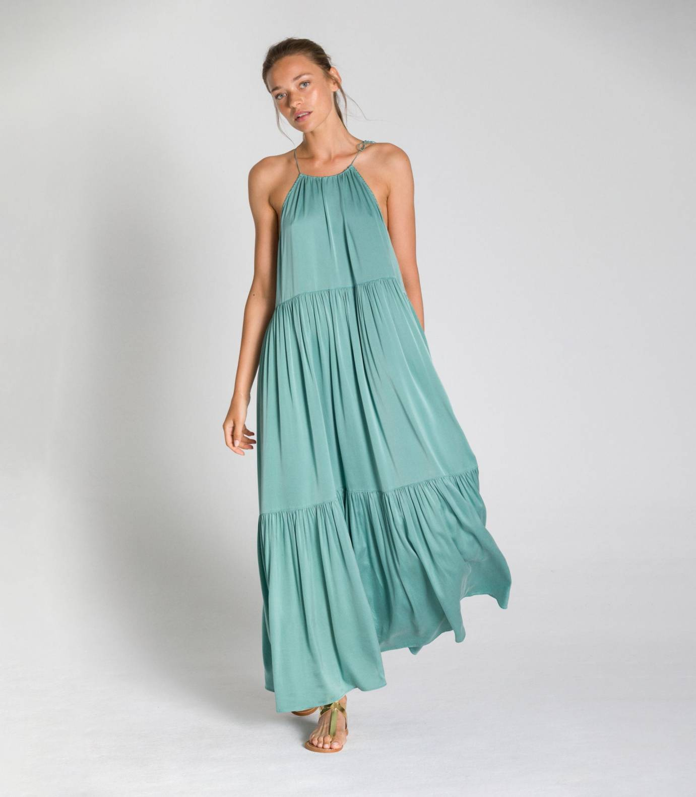 SILK HALTER DRESS