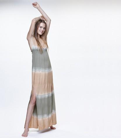 Viscosa Bicolor V17 Long Dress