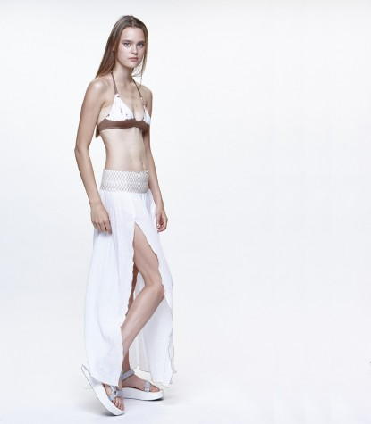 Gasa Bordada Long Skirt
