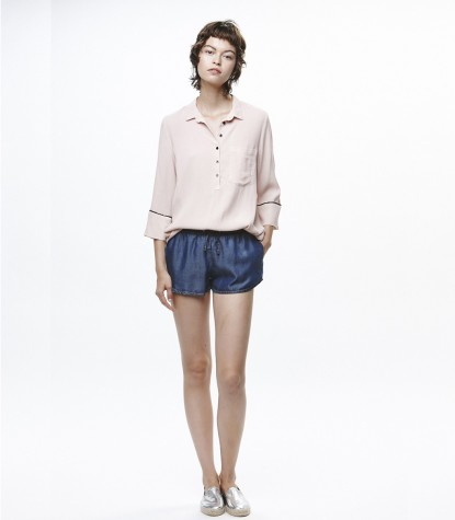 Crepe Marroquine Shirt