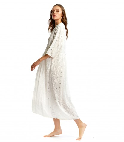 Bordado Tinto Fredo Long Dress
