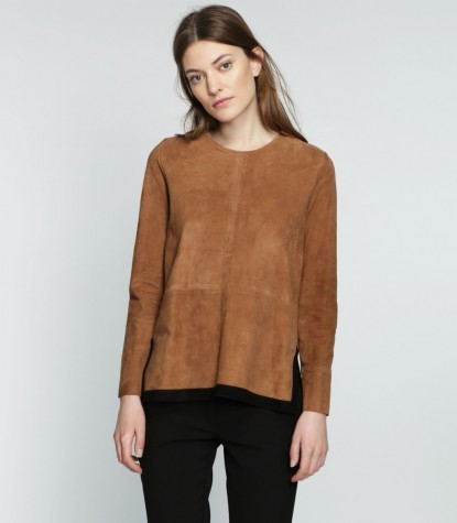 Suede Blouse