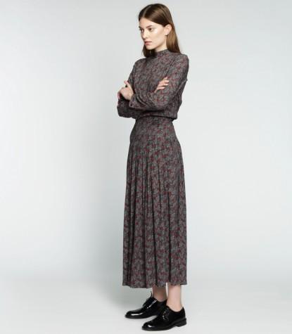Leaves Long Dress