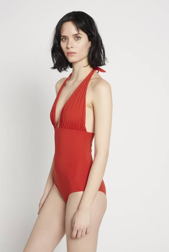Basic Halter Swimsuit Carmin V18-1-