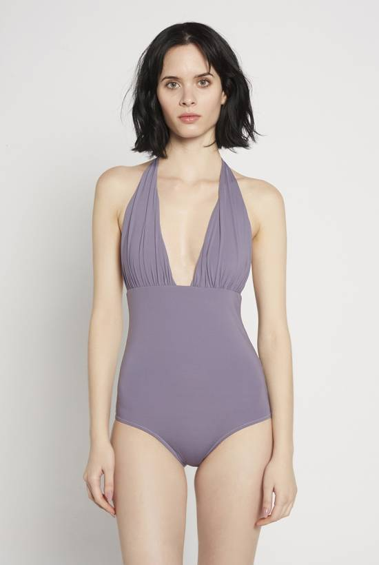 Basic Halter Swimsuit Lavanda V18-1-