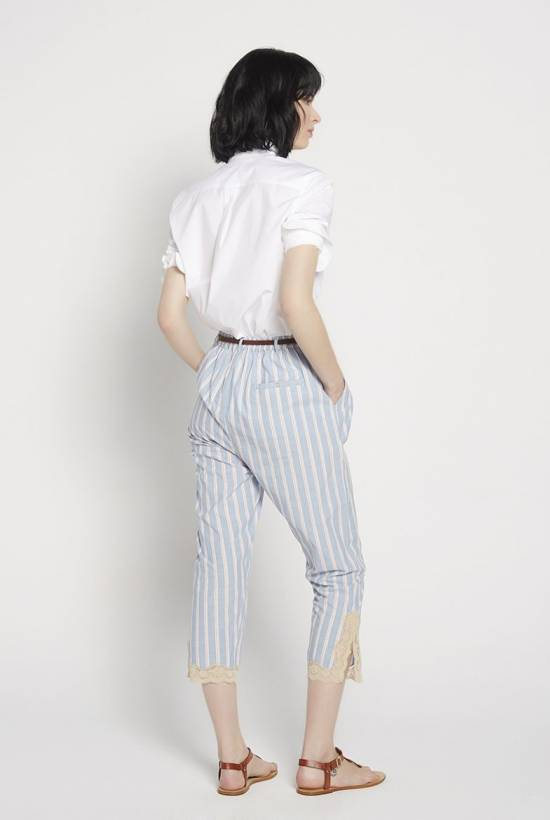 Red Striped Belted Trousers