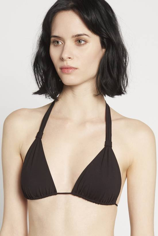Basic sliding halter bra Black V18-1-