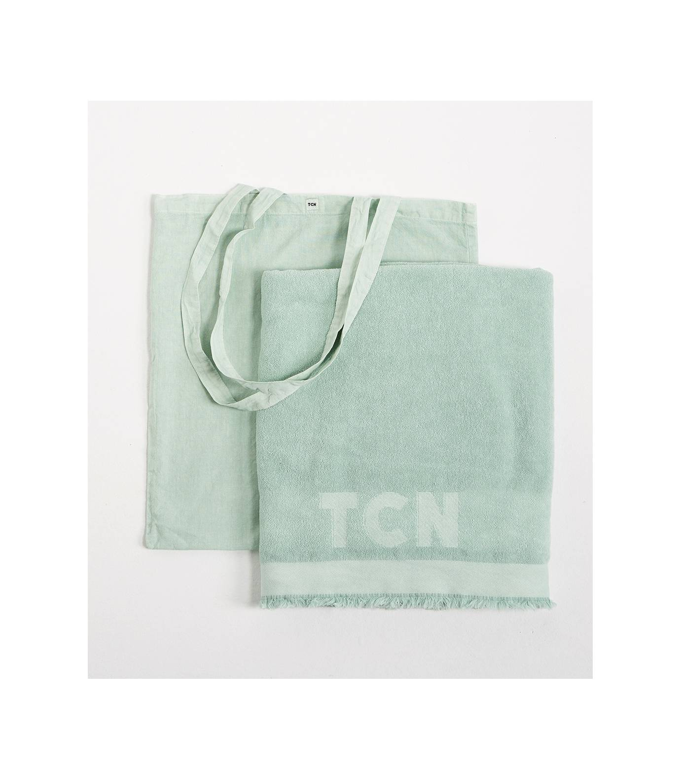 Beach Towel with Bag Aqua