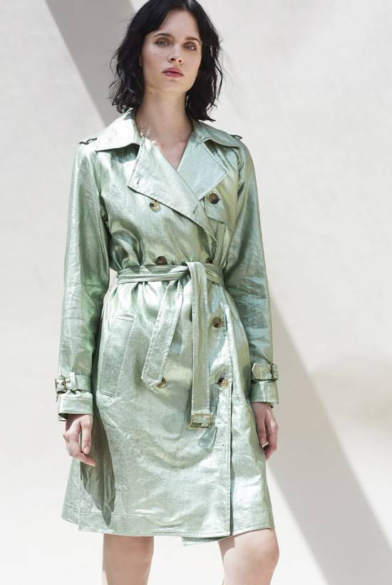 Metallic Linen Trench