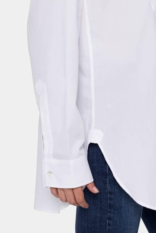 Poplin mao shirt