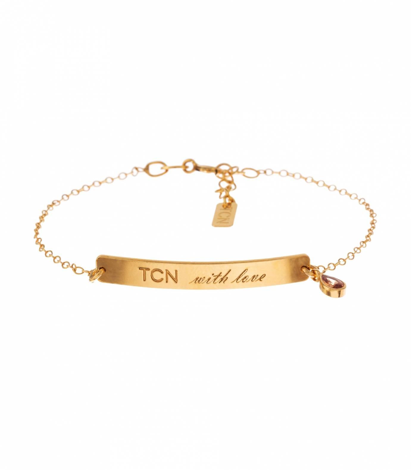 TCN with love gold bracelet