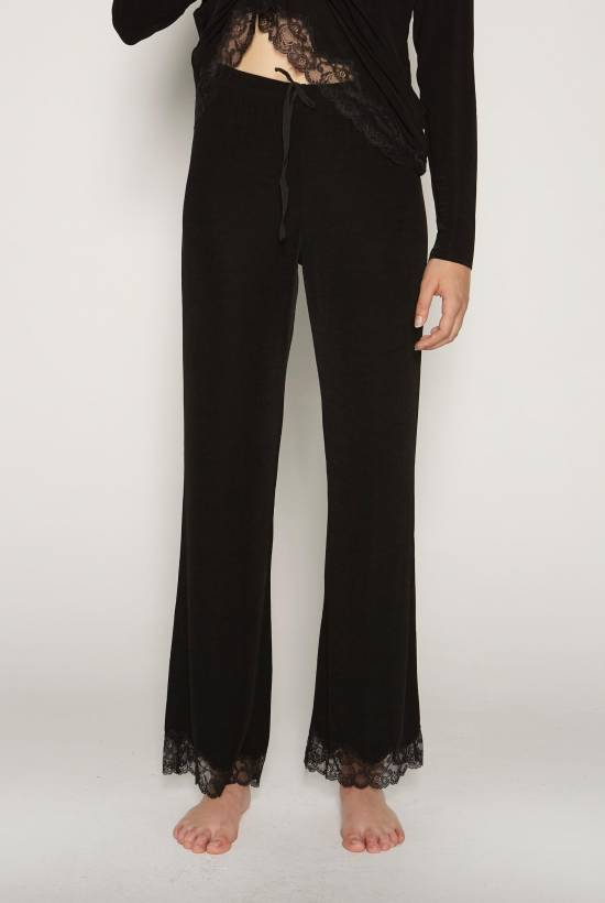 Ribbed Lace Trousers