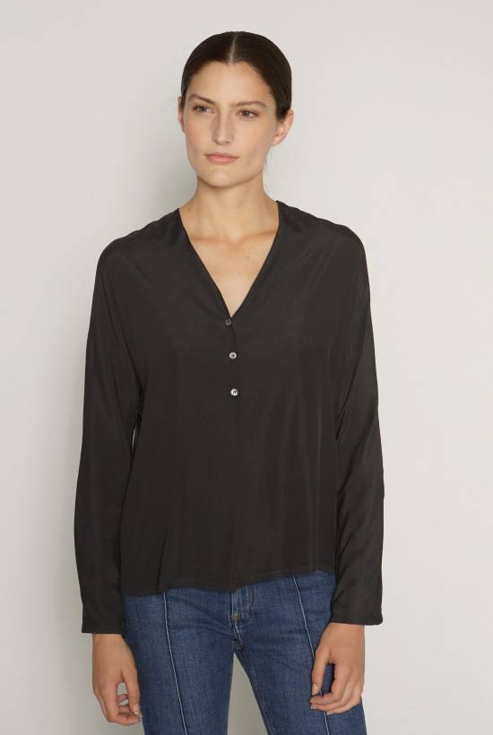 V-neck silk blouse