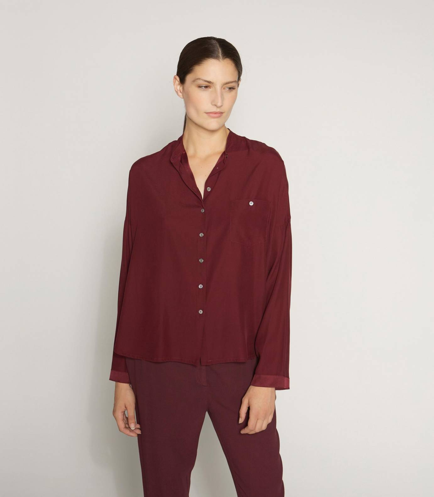 Mao silk shirt