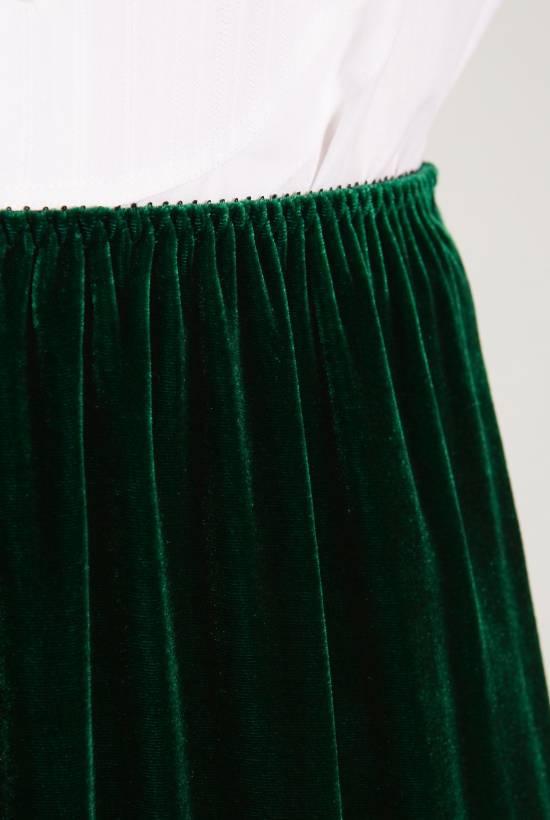 Long velvet skirt