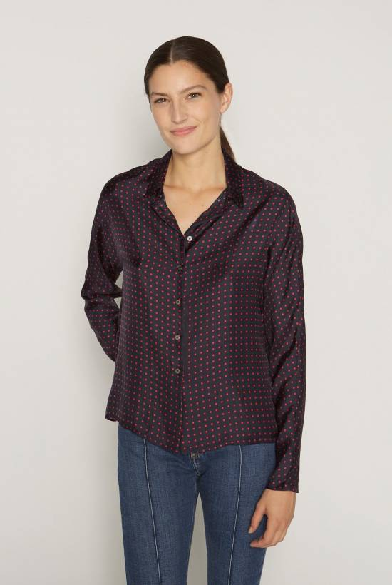 Spotty silk shirt