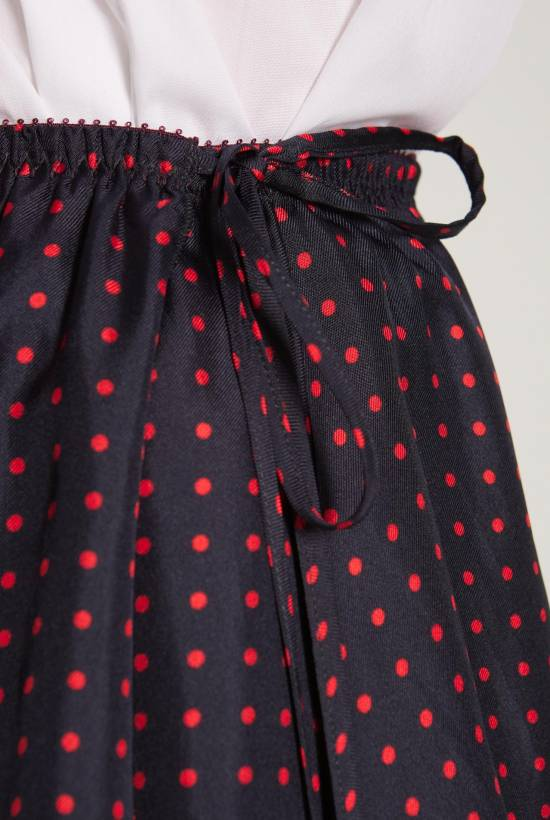 Spotty silk skirt