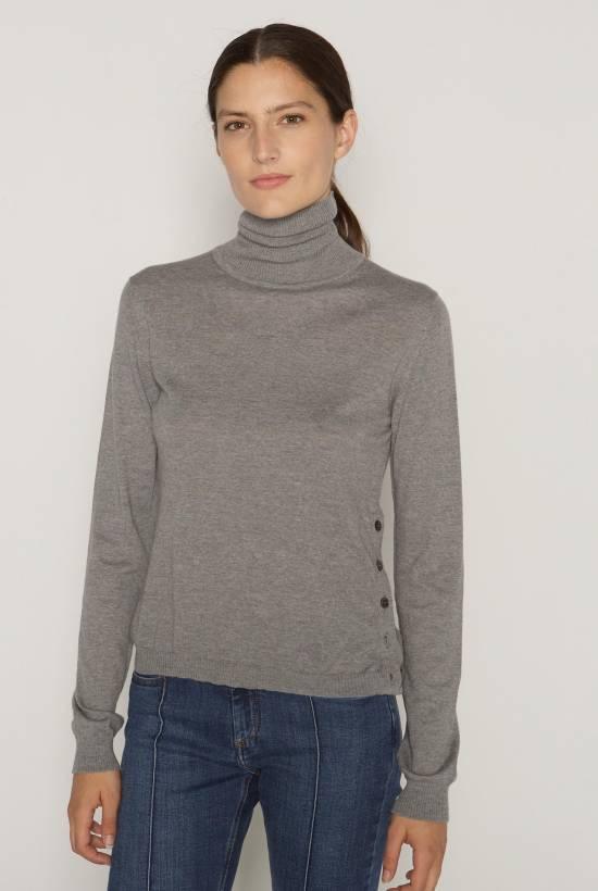Turtleneck soft tricot jersey