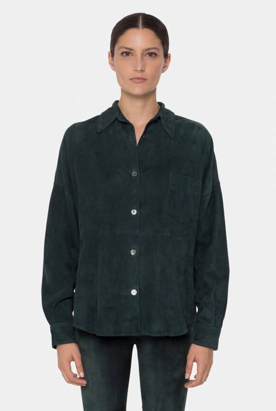 Suede shirt DARK