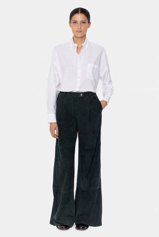 Suede trousers DARK