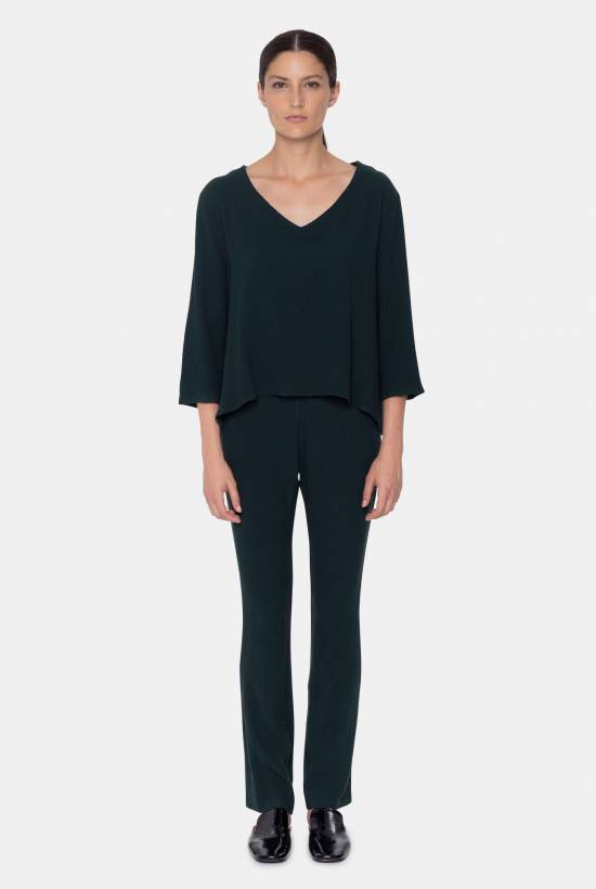 Stretch viscose trousers DARK