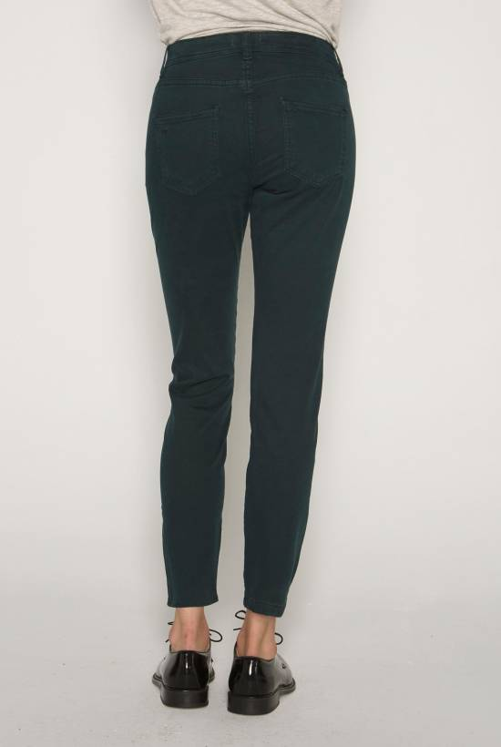 Twill skinny trousers DARK