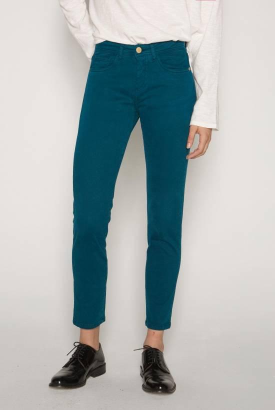 Twill skinny trousers BLEU