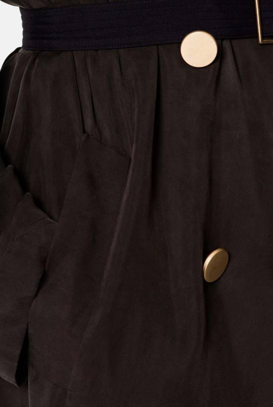 Cupro gabardine dress DARK