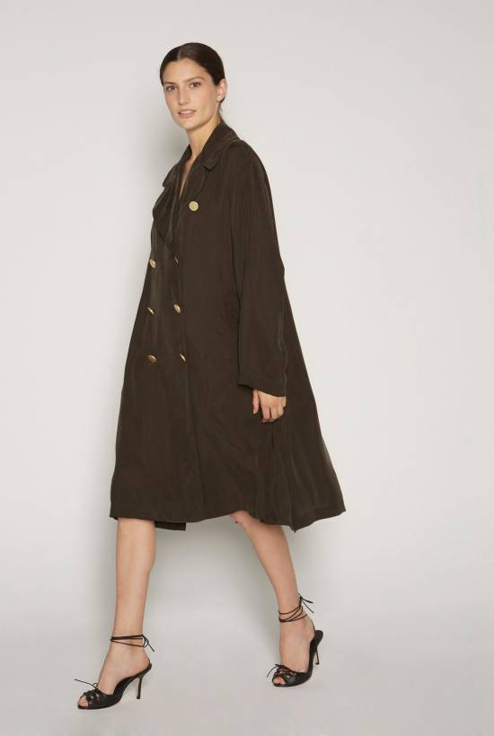 Cupro coat DARK