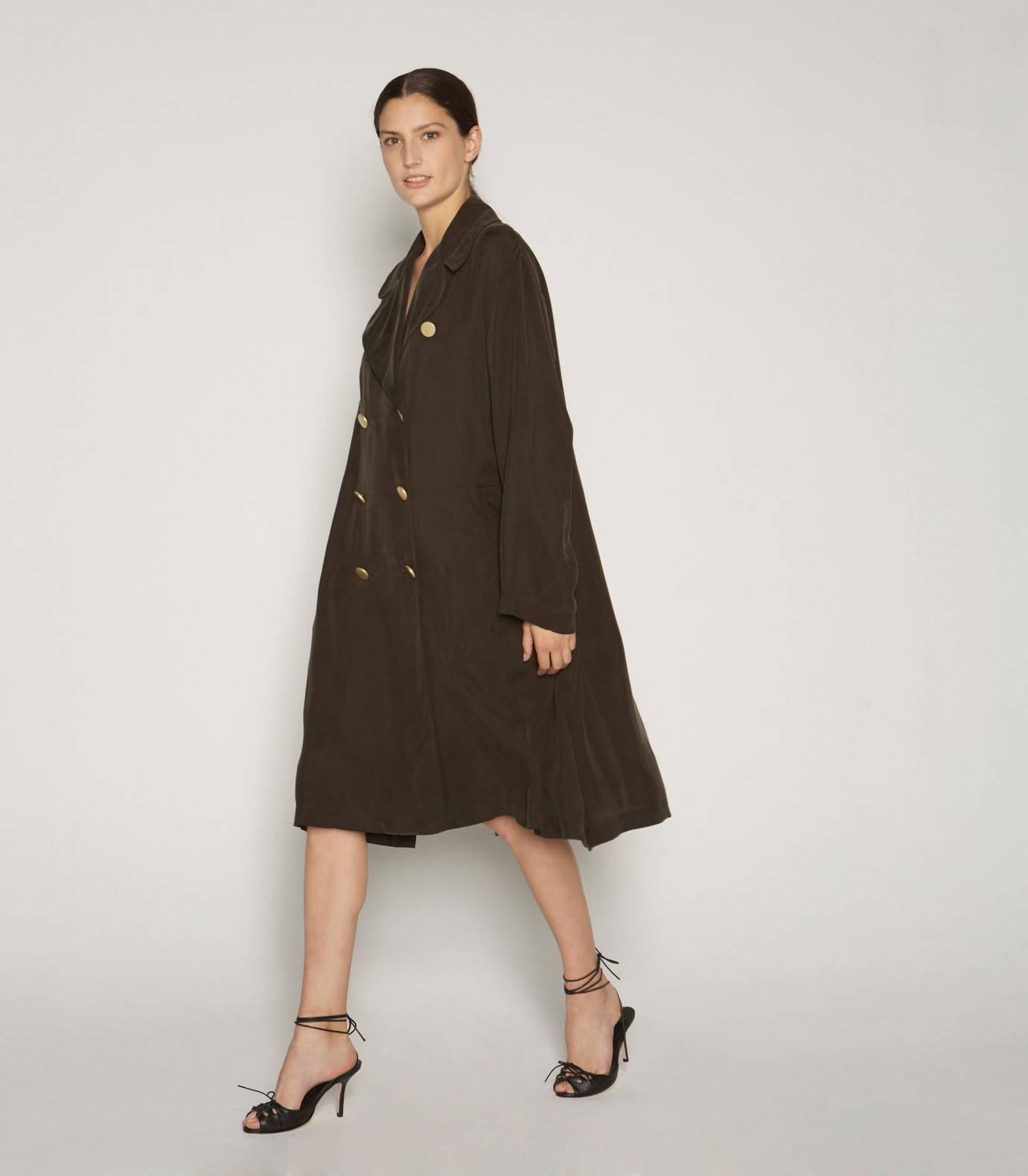 Cupro coat BLEU