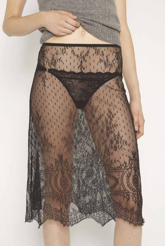 Lace slip skirt
