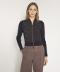 Suede and tricot jacket