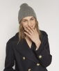 Tricot and camel hair hat