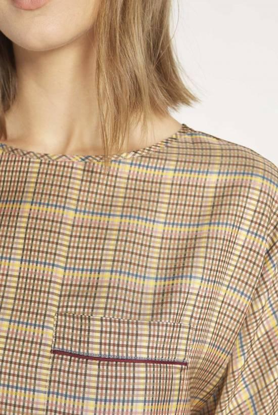 Viscose gingham blouse
