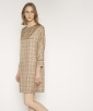 Viscose gingham dress