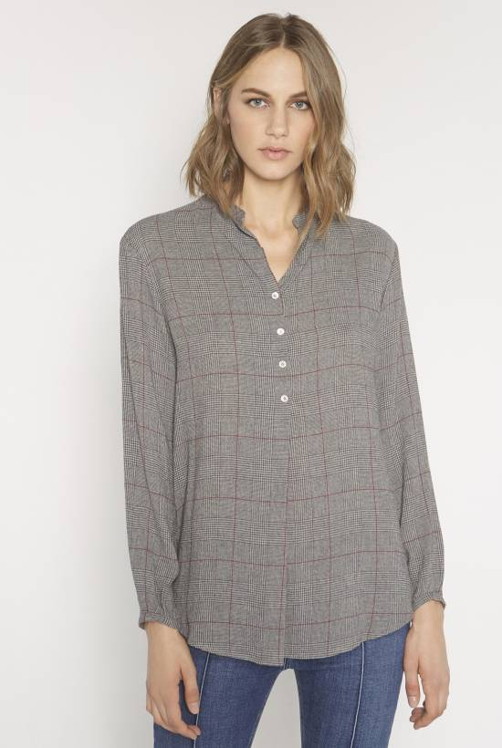Grey check blouse GRIS