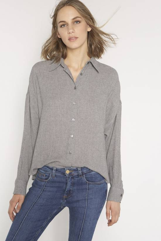 Wool viscose shirt