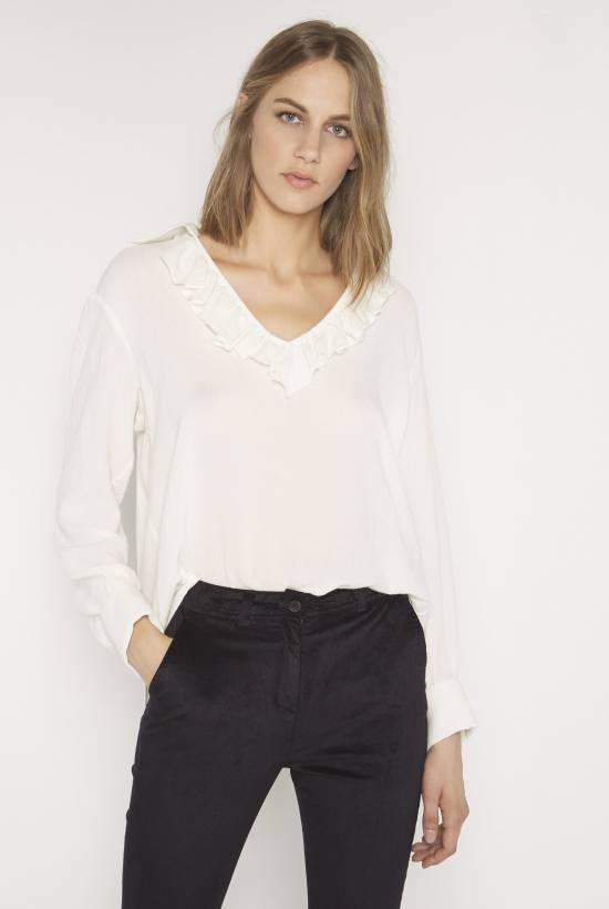 Wool viscose blouse