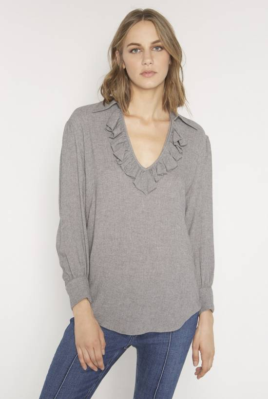 Wool viscose blouse