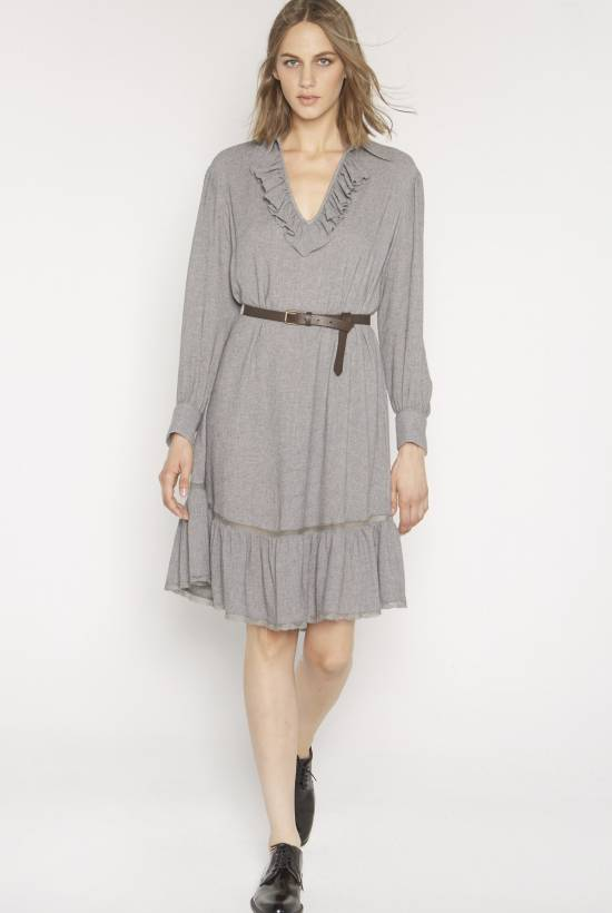 Wool viscose dress