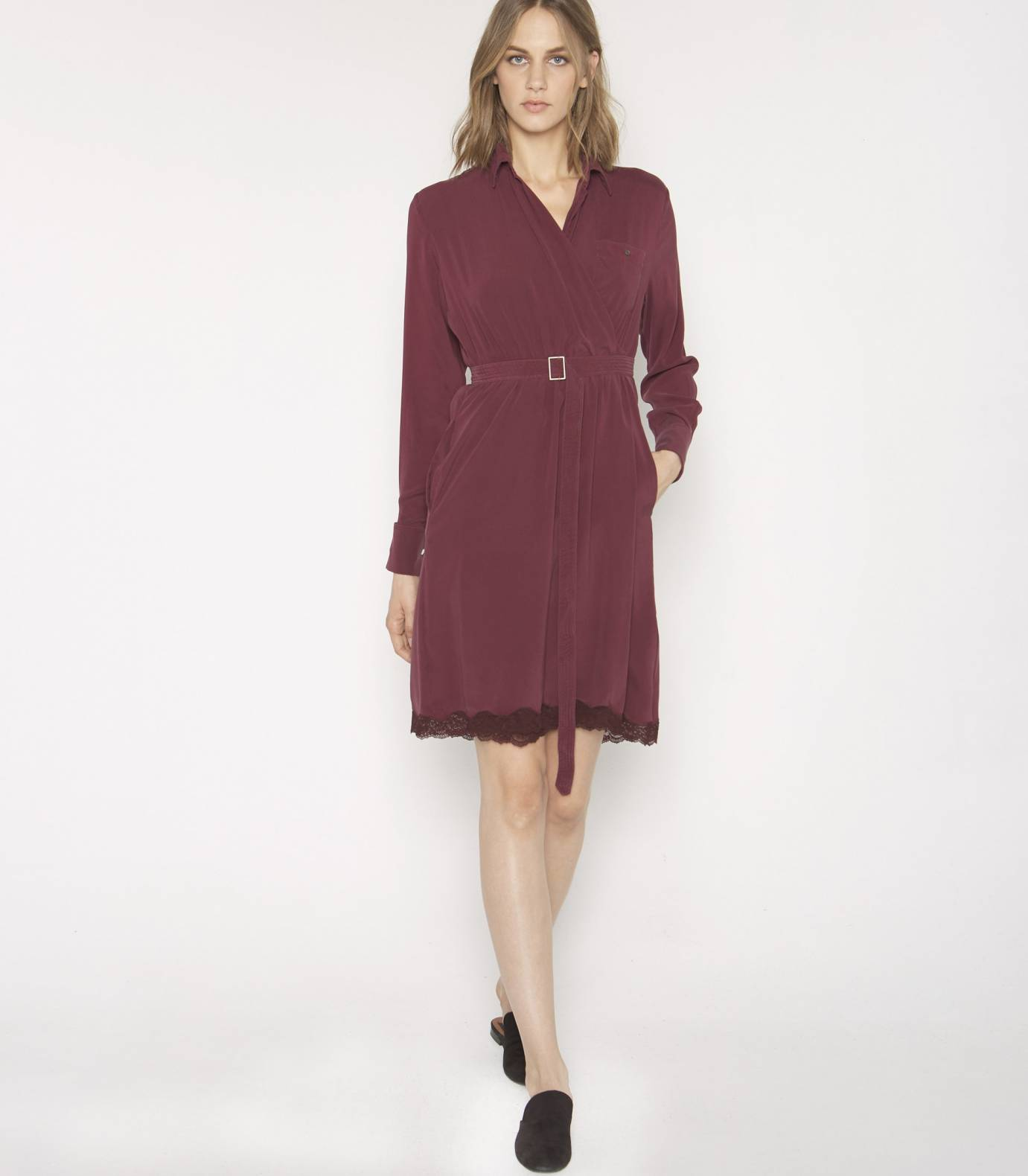 Silk shirtdress