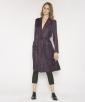 Spotty silk dress coat