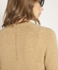 Camel hair and tricot cardigan