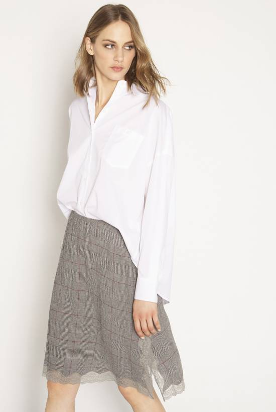 Grey check skirt GRIS