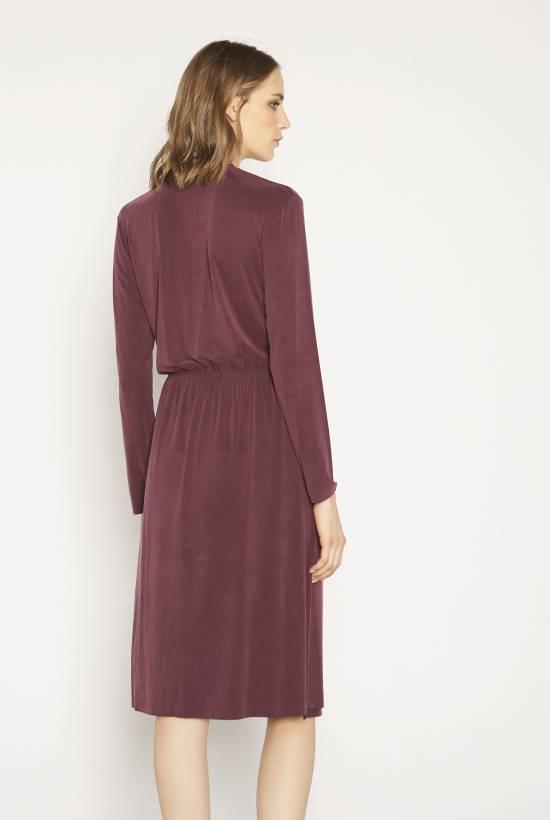 Cupro knit dress
